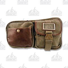 Prairie Schooner Brown Canvas Waist Bag
