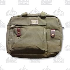 Prairie Schooner Green Canvas Computer Bag