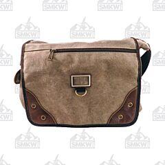 Prairie Schooner Brown Canvas Shoulder Bag