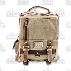 Prairie Schooner Light Brown and Khaki Padded Sling Bag