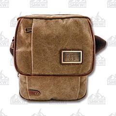 Prairie Schooner Light Brown Canvas Shoulder Bag