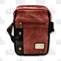 Prairie Schooner Burgundy Canvas Shoulder Bag
