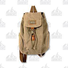 Prairie Schooner Light Brown Canvas Tote Backpack