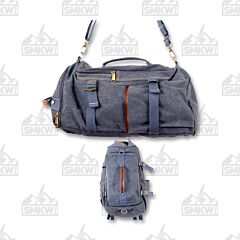 Prairie Schooner Blue Canvas Duffle Bag