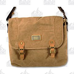 Prairie Schooner Medium Brown Canvas Messenger Bag
