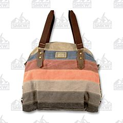 Prairie Schooner Multicolored Canvas Arched Tote Bag