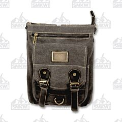 Prairie Schooner Black Canvas Purse with Sunray Tag