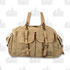 Prairie Schooner Khaki Canvas Duffle Bag