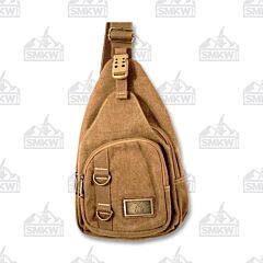 Prairie Schooner Medium Brown Canvas Sling Purse