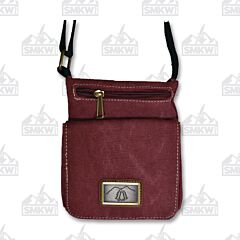 Prairie Schooner Burgundy Canvas Grab and Go Bag