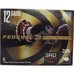 "Federal Premium 3rd Degree 12 Gauge 3-1/2"" Multi Shot 5 Rounds"