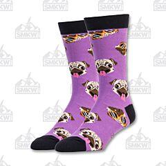 Oooh Yeah! Pugtastic Men's Crew Socks