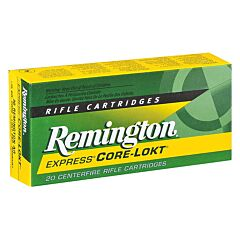 Remington Express 264 Winchester Magnum 140 Grain Pointed Soft Point Core-Lokt 20 Rounds