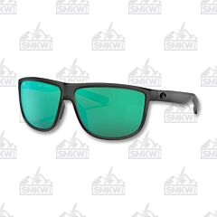 Costa Rincondo Matte Smoke Crystal Sunglasses Green Mirror