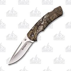 Remington Sportsman Folder 420J2 Stainless Steel Blade Camo Rubber Coated Handle