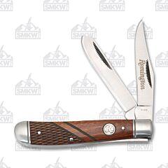 Remington Heritage Series Wood Handle Medium Trapper 420 J2 Stainless Steel Blades