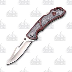Remington EDC Series Folder 420J2 Stainless Steel Blade Gray/Red Aluminum Handle