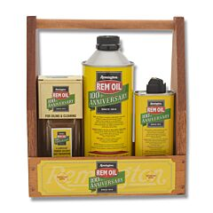 Remington REM OIL 100th Anniversary Gun Oil with Wood Box