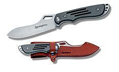 "Remington Custom Carry Series I Fixed Blade with Aluminum Handles and Bead Blast Finish 440C Stainless Steel 4.50"" Spear Point Plain Edge Blades Model 19724"
