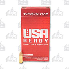 Winchester USA Ready Ammo 9mm Luger 115 Grain Flat Nose FMJ 50 Rounds