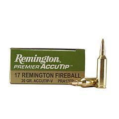 Remington Premier AccuTip 17 Remington Fireball 20 Grain Polymer Tip 20 Rounds