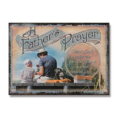 Father's Prayer Tin Sign