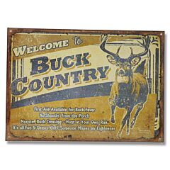 Welcome to Buck Country Tin Sign