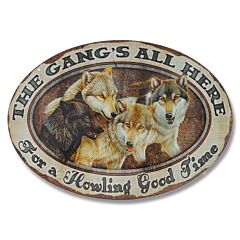 The Gang's All Here Oval Tin Sign