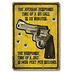 Average Response Time Tin sign