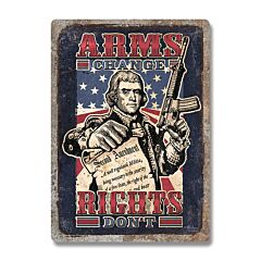Arm Change Rights Don't Tin Sign