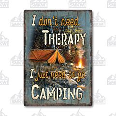 Camping Therapy Tin Sign