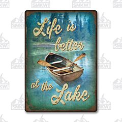 Better at the Lake Tin Sign