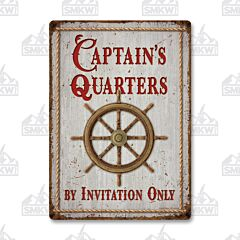 Captin's Quarters Tin Sign
