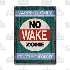 No Wake Zone Tin Sign
