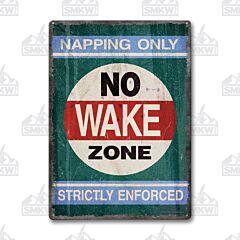 No Wake Zone Tin Sign