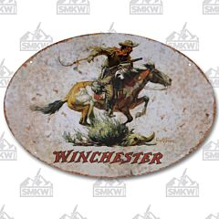 Rivers Edge Winchester Cowboy Tin Sign