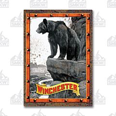 Winchester Bear on Cliff Tin Sign
