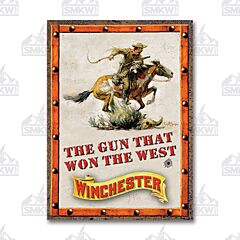 Winchester Won the West Tin Sign