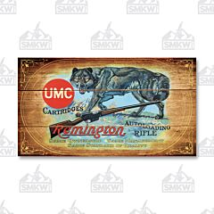 Remington UMC Cartridges Wolf Wood Sign