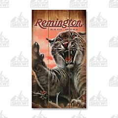 Remington Bobcat Wood Sign