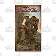 Remington Right of Way Wood Sign