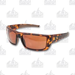 Costa Del Mar Rafael Sunglasses with Retro Tortoise Plastic Frame and 580P