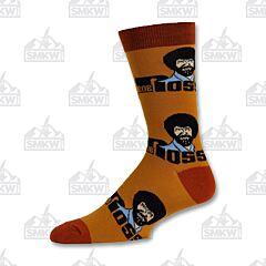Oooh Yeah! Roll Em Bob Ross Orange Unisex Crew Socks