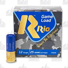 "RIO Game Load 12 Gauge 2 3/4"" 3 3/4 Dram 1 1/4 oz #8 1330 FPS 8 Shot 25 Rounds"