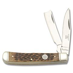 Rough Ryder Brown Jigged Bone Razor Trapper