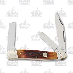 Rough Ryder Brown Stag Bone Jumbo Stockman