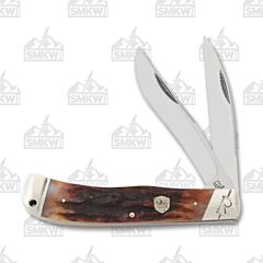 Rough Ryder Brown Stag Bone Jumbo Trapper