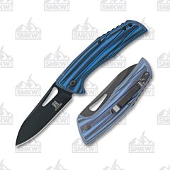 Rough Ryder Slip Joint Folder Black and Blue G-10