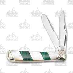 Rough Ryder Stoneworx Malachite and Pearl Series Trapper