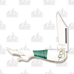 Rough Ryder Stoneworx Malachite Pearl Small Leg Knife